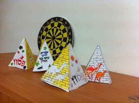 דגם פירמידה לפסח ולאביב